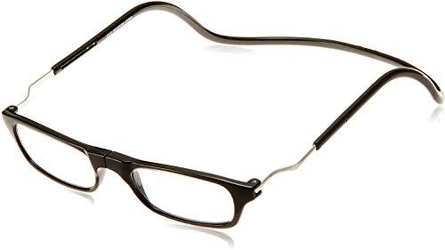 Clic Readers (クリックリーダー) エクスパンダブル ワイドサイズモデル 老眼鏡 + 東レ トレシー クリーニングクロス セット (ブラック,+2.50)