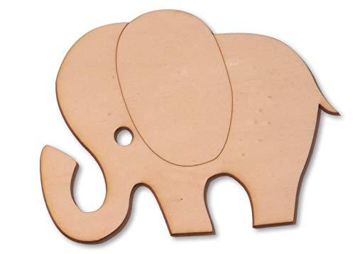 Holzelefant 10 cm zum bemalen