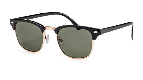 Filtral Retro Sonnenbrille/Runde Browline-Sonnenbrille für Damen & Herren F3023819