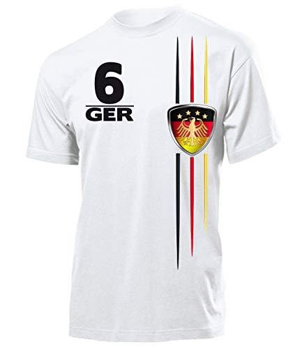 Deutschland Germany Fan t Shirt Artikel 4700 Fuss Ball Welt Europa Meisterschaft EM 2020 WM 2022 Team Trikot Look Flagge Fahne Männer Herren M