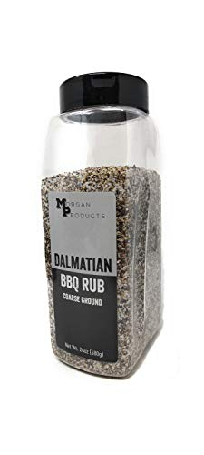 Dalmatian BBQ Dry Rub Coarse Ground Salt & Pepper, 24 Ounce | Beef, Pork, Poultry, Seafood, Vegetables | Gluten Free, No artificial Flavors, No preservatives
