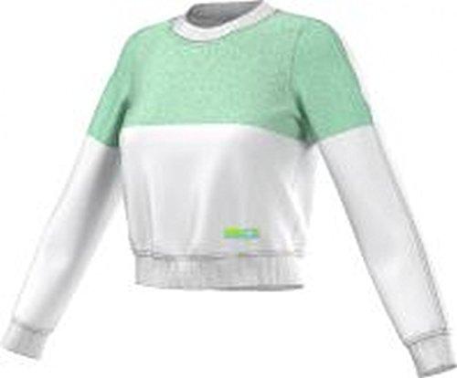 adidas Felpa by Stella McCartney SC SP Sweater Bianco Verde Small