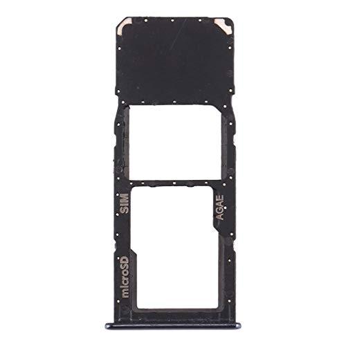 YIHUI Reparar las piezas de recambio Ranura para tarjeta SIM + Micro SD Bandeja para Samsung Galaxy A71 / A715 Piezas de reparación (Color: Negro)