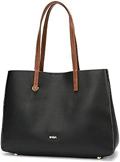 حقيبة كتف نسائية من الجلد بتصميم بسيط من SAGA