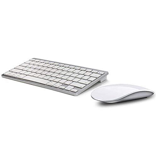 ZGQA-GQA Teclado Delgado y luz inalámbrica Bluetooth Touch Mouse Set ratón y el Teclado Conjunto