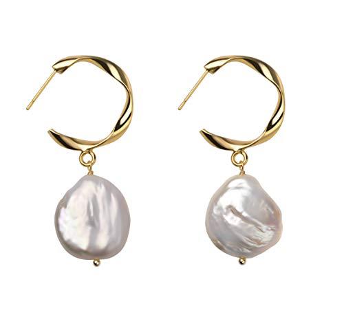 Irregular Pearl Earrings Dangle Pendant Baroque Culture Jewelry for Women Valentine Gift
