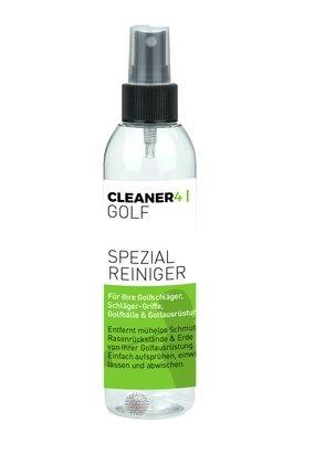 CLEANER-4- Golf Spezialreiniger Set 150 ml + Mikrofastertuch 40 x 40 cm Rillen-Reiniger Griff-Reiniger Ball-Reiniger für Golfschläger und Golfausrüstung
