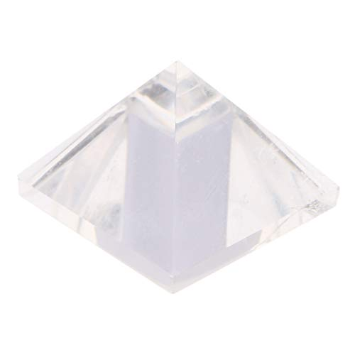 Modelo de Pirámide de Cristal Natural Adornos Roca Blanca Cuarzo Amuleto para Familiares Regalo de Colección - Blanco 2cm