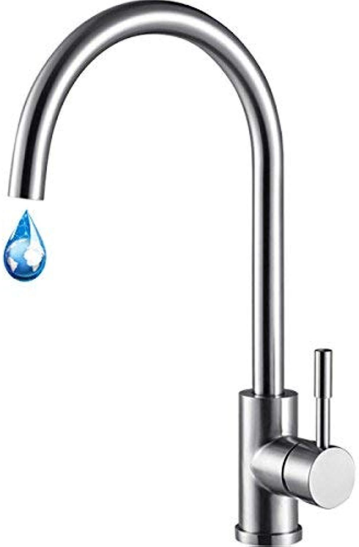 ZHAS 304 Edelstahl Wasserhahn drehen kann heies und kaltes Wasser Wasserhhne Spüle Wasserhahn