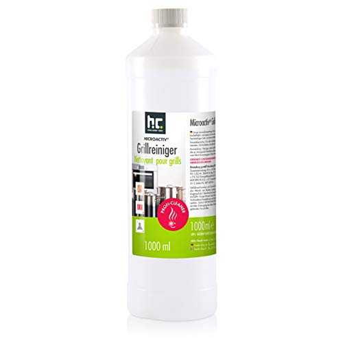 Höfer Chemie Microactiv Grillreiniger - 1 Liter anwendungsfertig für Backofen, Grillrost, Pfannen, Töpfe UVM.