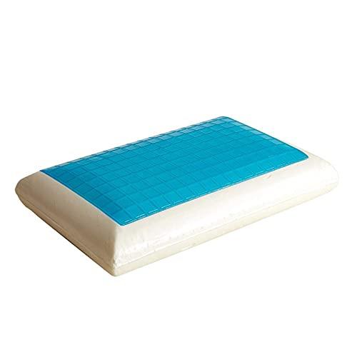 JONJUMP Almohada de espuma de memoria para el cuello, almohada de gel de cama blanca, almohadas de refrigeración para dormir viajes cuello alivio de fatiga