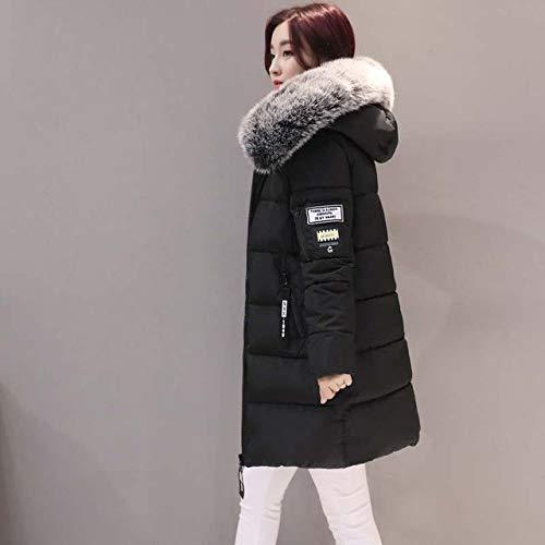 DPKDBN donsjack, winterjas dames middenlange gewatteerde jassen met capuchon kraag para's verdikke, warme winterjas dames