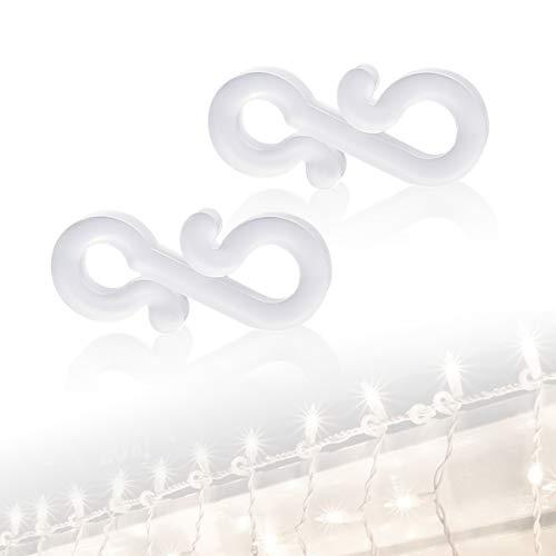 Crochets de gouttière, crochets de suspension 100pcs pour gouttières, décorations Clips de gouttière pour le mariage anniversaire fête lumières sur la gouttière de garage maison