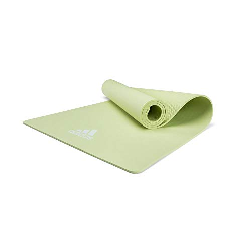 adidas ADYG-10100GN Colchonetas de Yoga, Adultos Unisex, Verde, 8 mm
