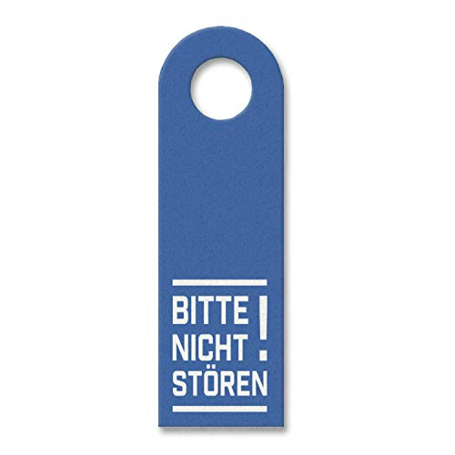 trendaffe - Bitte Nicht stören! Türhänger in Blau Bürotüre Zimmertüre Geschäft Privat Büro