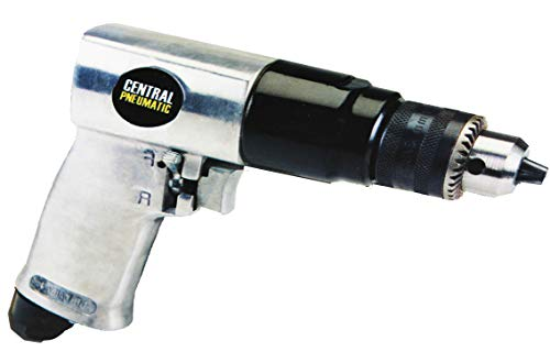 Central Pneumatic 3/8' Reversible Air Drill With Keyed Chuck and Key by Central Pneumatic