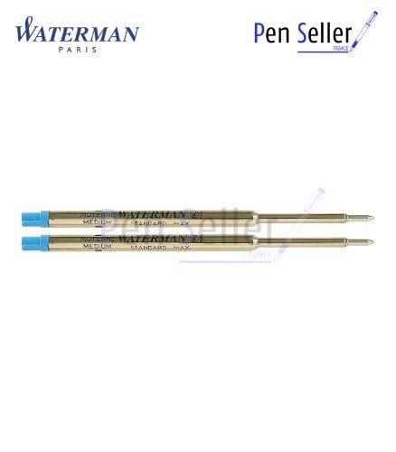 Waterman S0478530 Kugelschreiber Großraummine blau, 2er-Set.