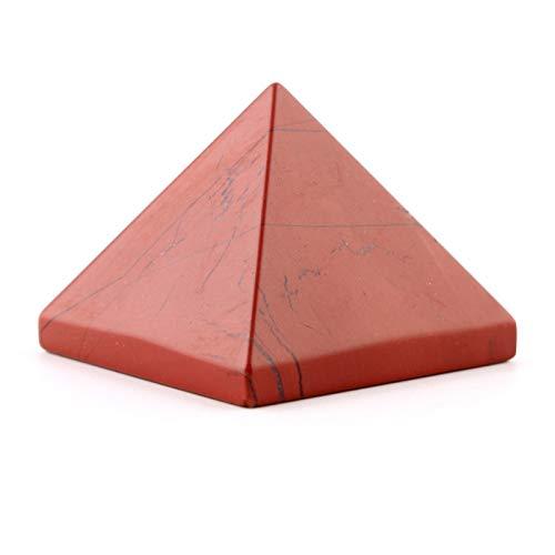 ZTTT 30mm Natürliche rote Jasper Pyramid Stein Geschnitzte Handwerk Ägypten Ägyptische Kristall Dekoration Geschenke