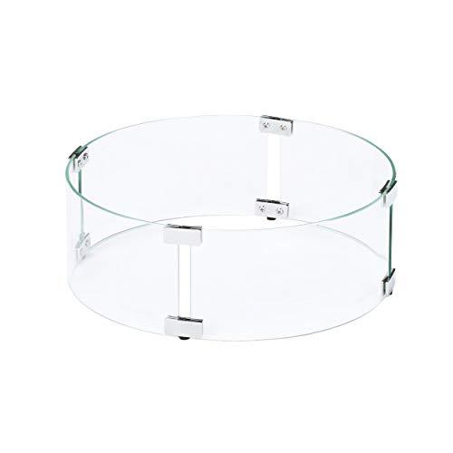 Celestial Fire Glass - 36,8 x 15,2 cm Flamme / Windschutz für Feuerstellen im Freien