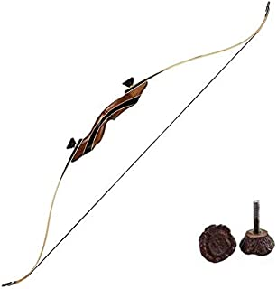 Image of SNOW MONSTER Archery 56' Takedown Hunting Recurve Bow Adults Right Hand Longbow Outdoor Black Walnut Wood Beginner to Intermediate 30-60LBS