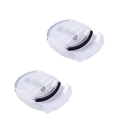 Portable cil curleur Cils en plastique Bigoudi Mini Voyage Recourbe Cils Curling Rechargeables Cils clip 2pcs