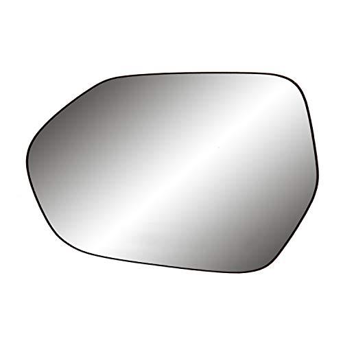 "Driver Side Non-heated Mirror Glass w/backing plate, Camry Sedan/Hybrid, Corolla Sedan, w/o BSDS, 4 15/16"" x 7 1/16"" x 7"""