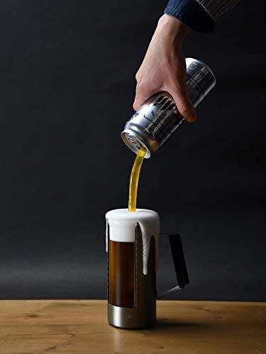 パール金属 缶ごと飲める 真空 ビアジョッキ 520ml 保温 保冷 ビンテージバー HB-5790