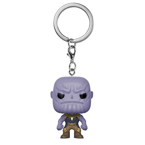 Funko- Pocket Pop Marvel Avengers Infinity War Thanos Portachiavi, Multicolore, Standard, 27301-PDQ