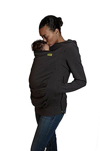 Boba Hoodie Baby Carrier Cover Hooded Stretchy Sweatshirt (Medium) Dark Grey
