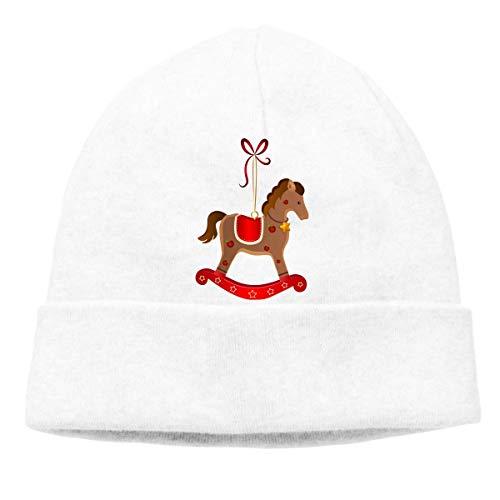 Skull Cap Solid Hedging Cap Uhr Cap Frohe Weihnachten Unisex Beanie Hats Schwarz