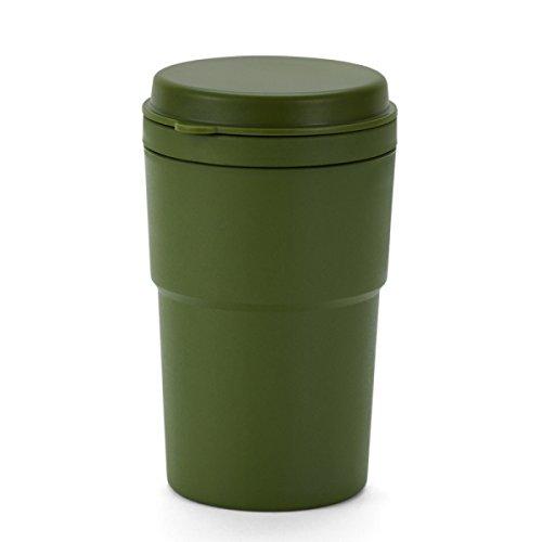 noyydh Resina del cenicero del Coche con la Gran Capacidad, cenicero Simple Desmontable del Escritorio de Limpieza desprendible (13.2 * 7.6 * 6.5cm) (Color : Army Green)