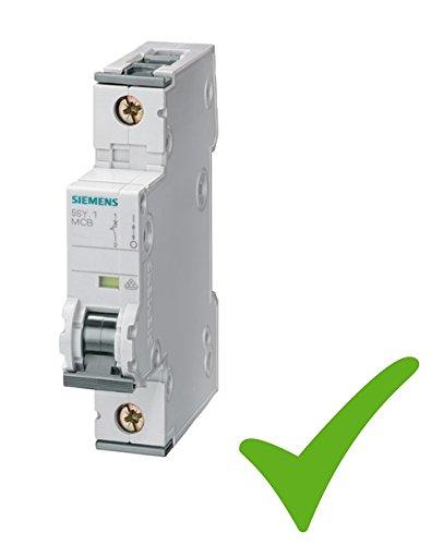 Siemens 5SY6116-6 Miniatur Sicherungsautomat Leitungsschutzschalter 230/400V 6kA 1-polig B 16A T=70mm 1-5-10-20 SET (10)