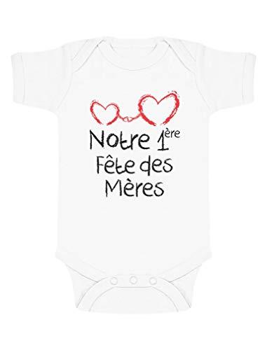Green Turtle T-Shirts Cadeau Maman Notre 1er fête des mères Body Bébé Manche Courte...