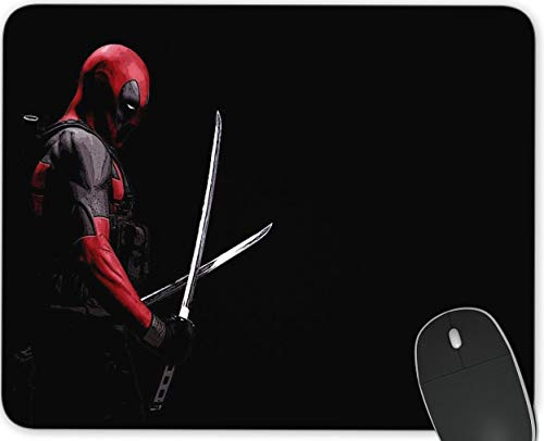 Deadpool Gaming Mouse Pad ,Anime Rectangle Mousemat Non-Slip Rubber Mouse Pads for Office Computers Laptops The Best Gift