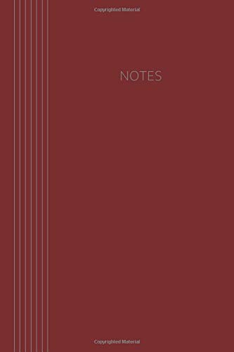 Notes: Classic Collection | 6 x 9 | 120 pages | dot grid | Softcover | dark red (Notebook Classic)