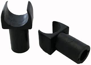 Wheelchair Seat Guide, 7/8 Inch, Detachable Arm, Black Plastic, Pair