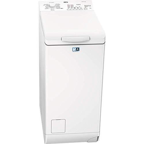 AEG L51260TL Waschmaschine Toplader / Waschmaschine mit 6 kg ProTex Trommel / sparsamer Waschautomat mit Mengenautomatik / automatische Waschmitteldosierung / Weiߟ