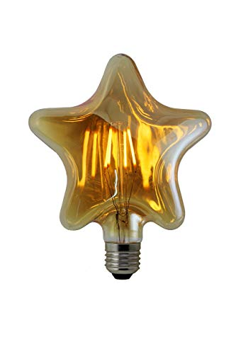 LED 4W E27 Bombillas Filamento, Iluminación Vintage LED 4W Edison Caliente 3000K Estrella