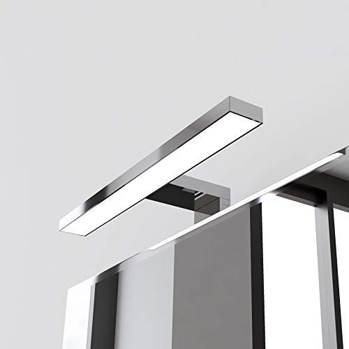 STARBATH PLUS – Lámpara Led espejo baño Silvia ABS 30cm, LED 7W, 550lm, IP44, 220V, 50-60Hz – 300x108x40mm – Luz blanca fría 6000K (Cromo, 30 cm 7W)