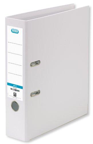 Elba Ordner A4 smart Pro+, Kunststoff, 8 cm breit, weiß, 10er Pack