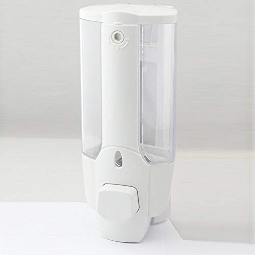 GWFVA Plastic zeepdispenser, zeepdispenser voor badkamer zonder punch Hand shampoo handreiniger flessen voor de badkamer