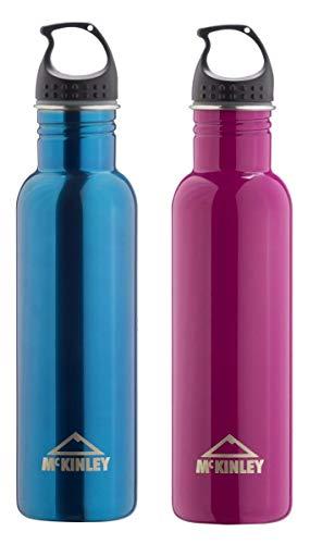 McKINLEY Unisex– Erwachsene Easy Edelstahl Trinkflasche, Blau/Schwarz, 0,75