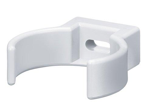 INEFA Rohrschelle Clip Weiß DN 50, 1 Stück - Kunststoff, Rohrclipse, Rohrbefestigung, Rohrhalter Clipser, Rohrclips Schelle Clip-Rohrschellen, Klemmschelle