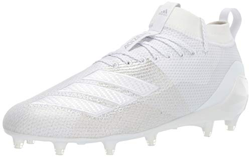 adidas Men's Adizero 8.0 Football Shoe, White/White/White, 10 M US