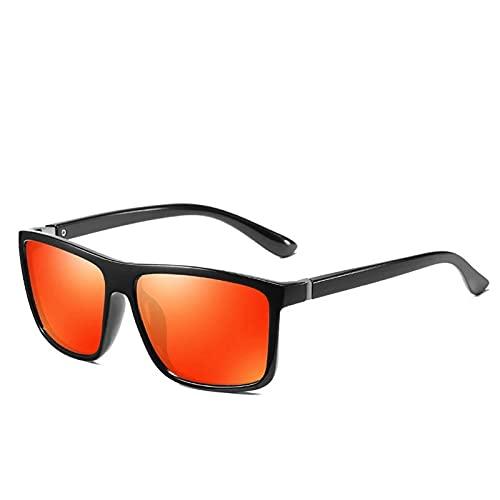 LQG 2021 Gafas de Sol polarizadas de nuevos Hombres en Europa América Gafas de Sol de Pesca al Aire Libre,Naranja