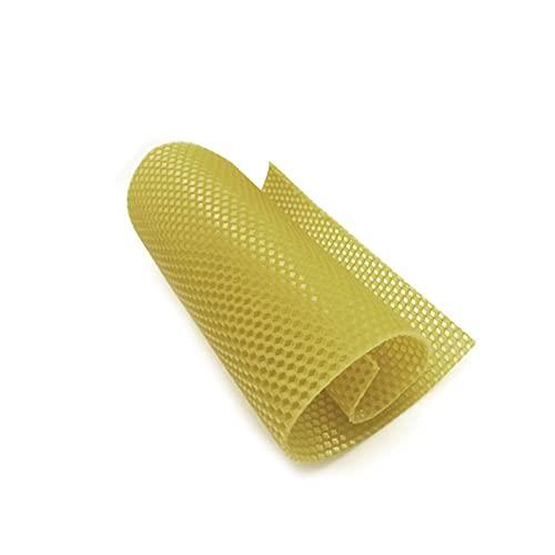 ZJJX Placas de cera de abeja, 10 unidades/30 unidades, con textura de panal, revestimiento de cera de abeja, base profunda de copos