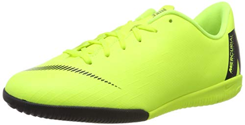 Nike Unisex-Kinder Jr. MercurialX Vapor XII Academy GS IC Fußballschuhe, Schwarz (Volt/Black 701), 36 EU