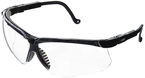 UVEX by Honeywell S3200 Genesis Safety Glasses with Uvextreme Anti-Fog Coating, Black Frame