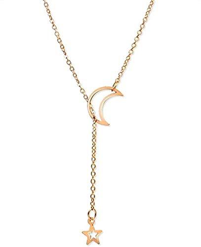NC190 Collar Multicapa con Colgante de Concha de Luna, Gargantilla, Collares para Mujer, Collar con Conchas Marinas, joyería de Playa, Regalo