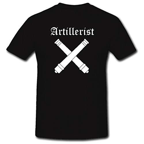 Artillerist Artillerie Militär Heer Kanone T-Shirt Shirt Hemd Bekleidung - T Shirt #952, Farbe:Schwarz, Größe:XL